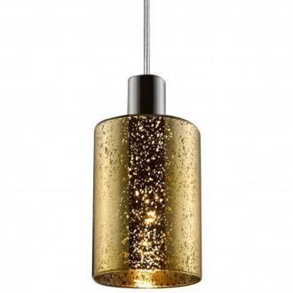 Pojedyncza lampa wisząca ze szklanym kloszem Pioli w kropki