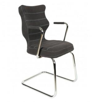 Krzesło do sal konferencyjnych z podłokietnikami Nero Plus Chrom