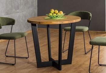 Stół jadalniany z okrągłym blatem w stylu industrialnym Cono dąb