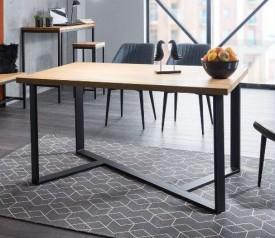 Stół do jadalni w stylu industrialnym Bernardo 150x90 czarny