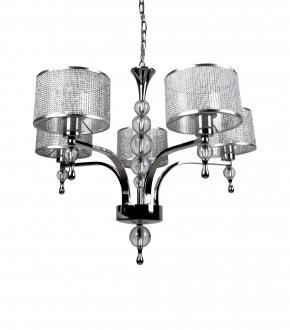 Metalowy żyrandol w stylu glamour Jewellery pięć kloszy