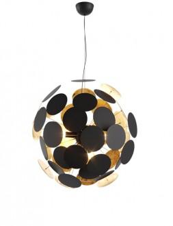 Designerska lampa wisząca z metalu Dots czarna
