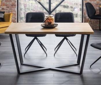 Nierozkładany stół w stylu industrialnym Marcello 150x90 cm