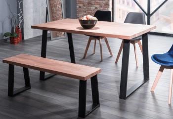 Industrialny stół nierozkładany na płozach Ronaldo 150x90 cm
