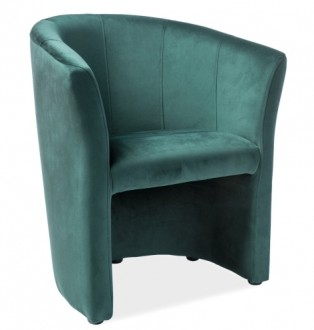 Fotel z podłokietnikami tapicerowany tkaniną aksamitną TM-1 Velvet