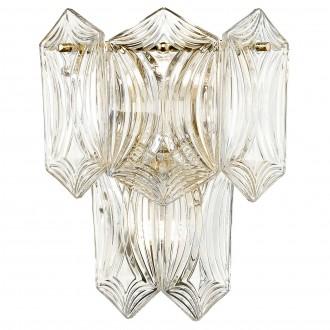Szklany kinkiet ścienny w stylu glamour Corato złoty