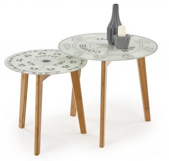 Zestaw stolików ze szklanym blatem Braga