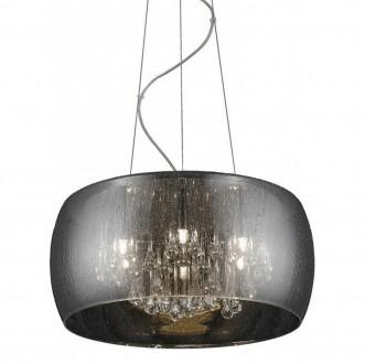 Designerska lampa wisząca ze szkła Rain 40 srebrna