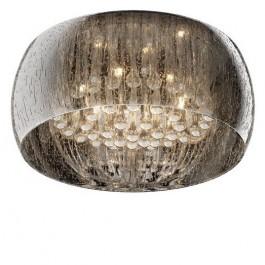 Designerski plafon sufitowy ze szkła Rain 50 srebrny