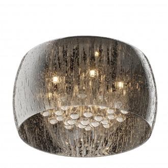 Designerski plafon sufitowy ze szkła Rain 40 srebrny
