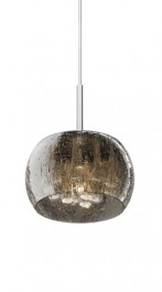 Designerska lampa wisząca ze szkła Rain 22 srebrna