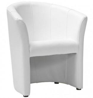Fotel z podłokietnikami tapicerowany ekoskórą TM-1