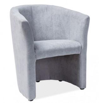 Tapicerowany fotel z podłokietnikami TM-1 tkanina