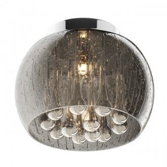 Designerski plafon sufitowy ze szkła Rain 22 srebrny