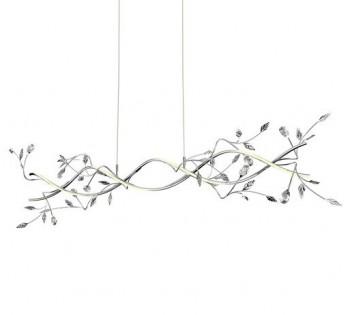 Dekoracyjna lampa wisząca z roślinnym motywem Belle Led