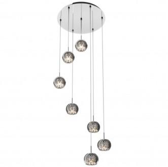 Lampa wisząca z dymionymi kloszami i kryształkami Crystal 7M