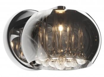 Kinkiet ścienny z dymionym kloszem i kryształkami Crystal 1D