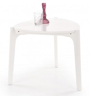 Lakierowany stolik kawowy na trzech nogach Cerda