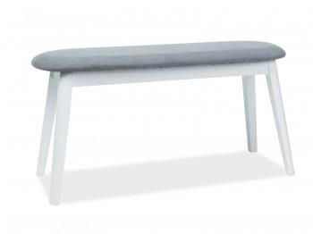 Dwuosobowa ławka salonowa z tapicerowanym siedziskiem Karl