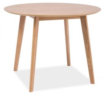 Fornirowany stół na czterech nogach Mosso II dąb 90
