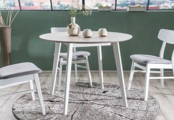 Fornirowany stół w stylu skandynawskim Mosso II dąb bielony / biały