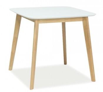 Nierozkładany stół z kwadratowym blatem Mosso III w stylu skandynawskim