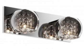Kinkiet ścienny z dymionymi kloszami i kryształkami Crystal 2A