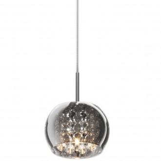 Lampa wisząca z dymionym kloszem i kryształkami Crystal 1A