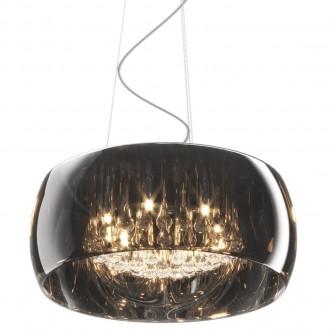Lampa wisząca z dymionym kloszem i kryształkami Crystal 50