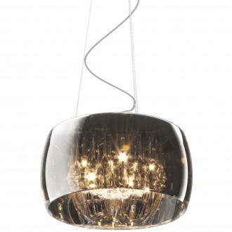 Lampa wisząca z dymionym kloszem i kryształkami Crystal 40