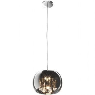 Lampa wisząca z dymionym kloszem i kryształkami Crystal 28
