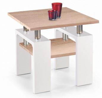 Stolik kawowy z półką Diana H MDF kwadrat