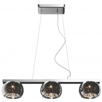 Lampa wisząca z dymionymi kloszami i kryształkami Crystal 3S