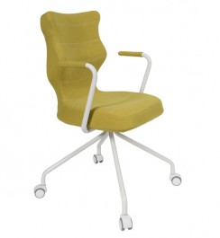 Krzesło biurowe Slim White z ergonomicznym oparciem