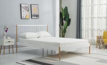 Metalowe łóżko z zagłówkiem Lemi 120