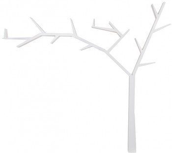 Drewniana półka drzewko Poprad biały wosk