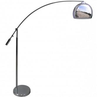 Chromowana lampa stojąca w kształcie łuku Manhattan