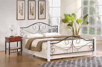 Metalowe łóżko z zagłówkiem Violetta 120 biały
