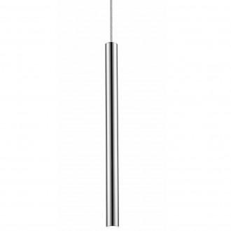 Podłużna lampa wisząca Loya 1 Chrome