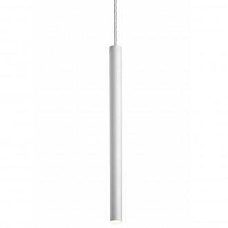 Podłużna lampa wisząca Loya 1 Matt White
