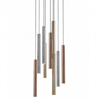 Designerska lampa wisząca z metalu Loya 9