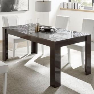 Rozkładany stół w wysokim połysku Vero antracyt