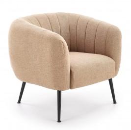 Wygodny fotel z tkaniny na metalowych nogach Lusso