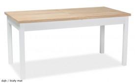 Klasyczny stół rozkładany na czterech nogach Wiktor 160x80 cm