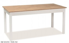 Rozkładany stół do jadalni na białych nogach Wiktor 140x75 cm