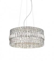 Ażurowa lampa wisząca z ozdobnymi kryształkami Pectra