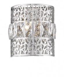 Ażurowy kinkiet ścienny z ozdobnymi kryształkami Pectra