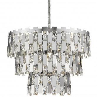 Metalowa lampa wisząca z dekoracyjnymi kryształami Anzio 49
