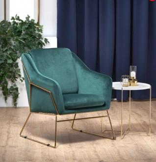 Fotel z poduchą na złotych płozach Soft 3