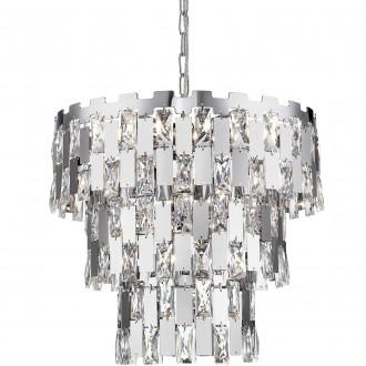 Metalowa lampa wisząca z dekoracyjnymi kryształami Anzio 39